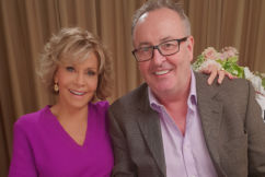 Chris Smith's chat with Jane Fonda gets VERY hot under the collar