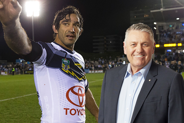 'He's the best Rugby League player I've ever called': Ray pays tribute to NRL great