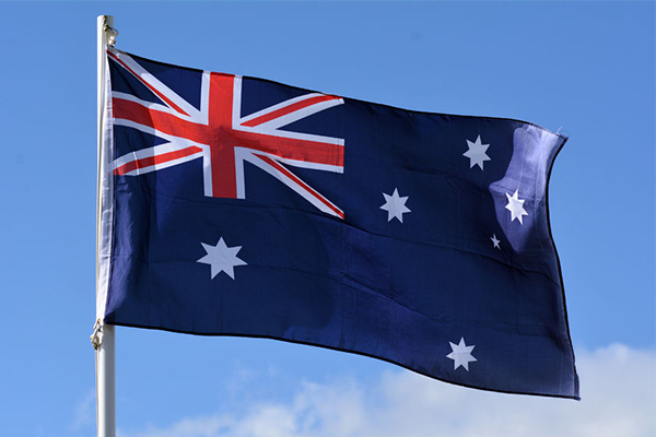 Article image for Nine-year-old school student protesting Australian national anthem
