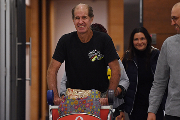 James Ricketson back on Australian soil after more than a year in Cambodian jail