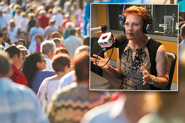 Article image for 'I don't have any hope at all': Hanson doubts PM will cut immigration rate