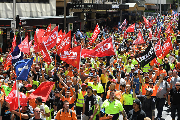 Article image for Union rallies 'a demonstration of militant union power,' says Jobs Minister