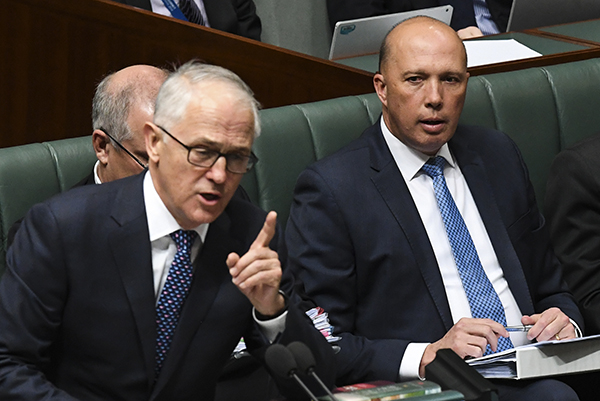 Article image for Peter Dutton refuses to bite at Turnbull bitterness: 'They're all matters for Malcolm'