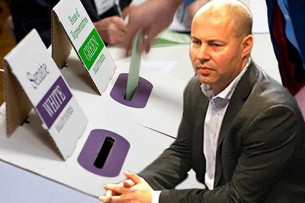Article image for Treasurer backs preferential voting system despite Wentworth defeat