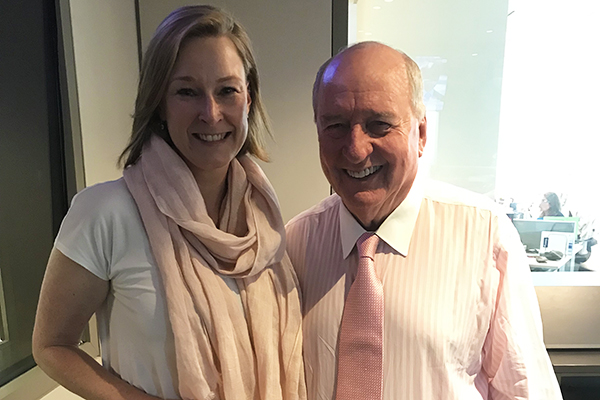 The ABC presenter always welcome in Alan Jones' studio
