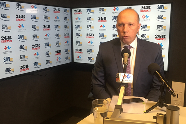 Peter Dutton comes out in support of Malcolm Turnbull