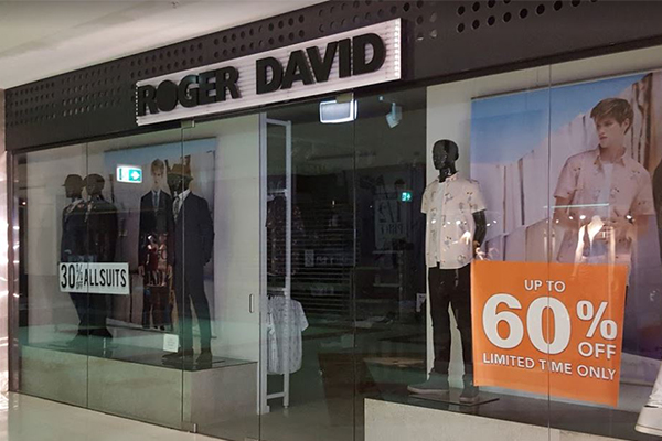 Article image for Iconic retailer Roger David to close 57 stores as no buyer comes forward