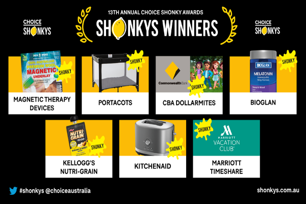 2018 Shonky Award winners