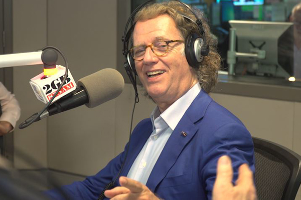 Andre Rieu asks Alan Jones to take up his unique daily ritual