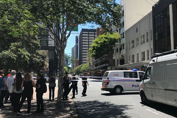 Article image for Police investigate suspicious device found in Brisbane CBD