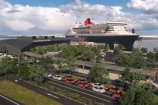 Your first look at Brisbane's international cruise terminal