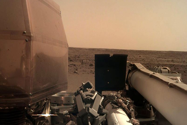 Article image for NASA's InSight Probe touches down on Mars, already Tweeting photos