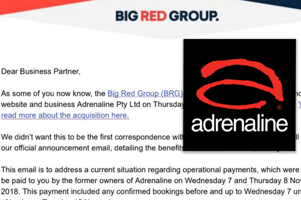 Article image for Adrenaline suppliers waiting on payments, told to take it up with 'old CEO'