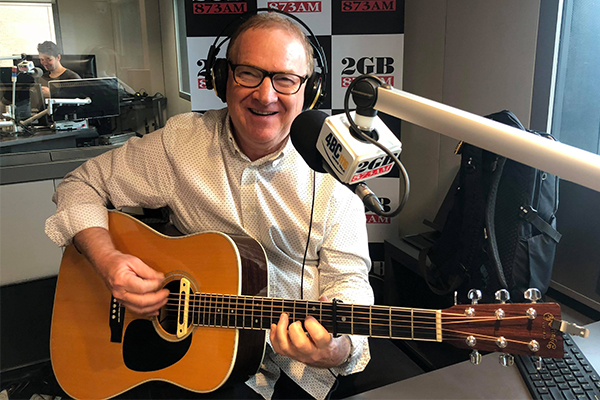 Australian country music legend Graeme Connors performs live in studio