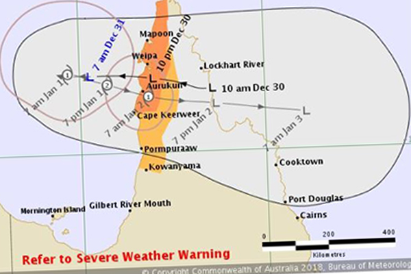 Article image for Tropical cyclone warning issued for Queensland