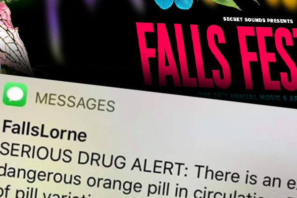 Orange pill prompts 'serious' SMS for Falls Festival revellers