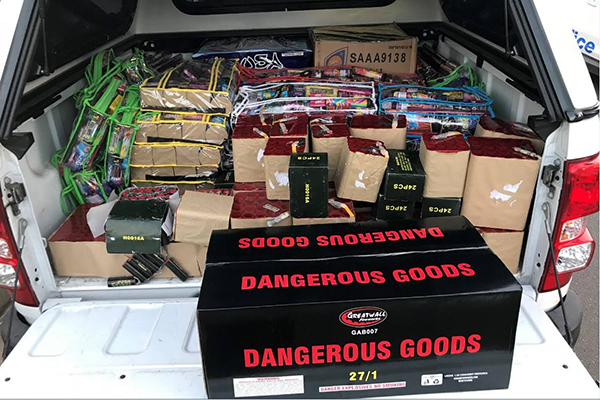 Man caught with huge stash of illegal fireworks