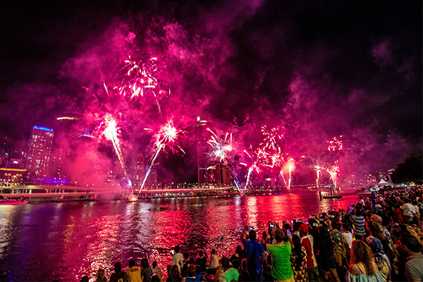 Article image for Brisbane lights up the skies to welcome in the New Year