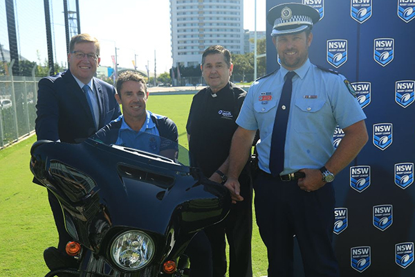 Blues coach Brad Fittler back on his bike, all for an incredible cause