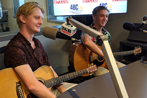 Article image for Double trouble: Ballina teens stun Ray Hadley with epic guitar performance