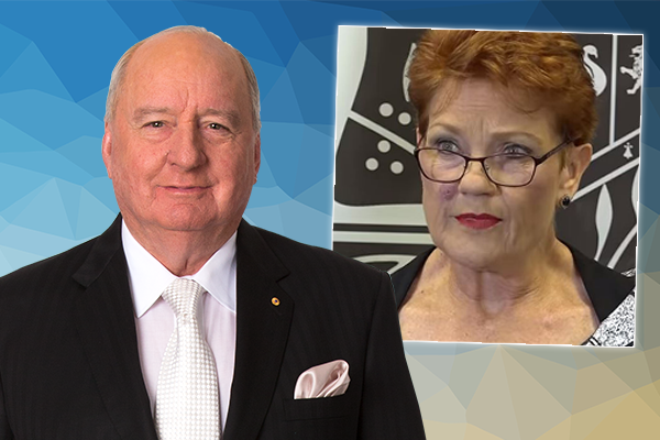 Article image for Pauline Hanson 'demonstrated leadership… lacking in other parties': Alan Jones