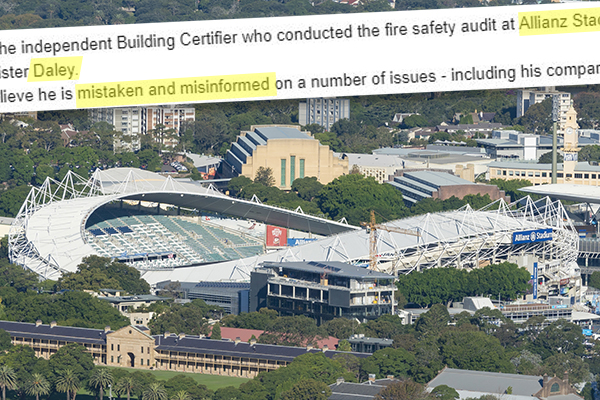 Revealed | Independent stadium certifier disproves 'misinformed' claims by Michael Daley