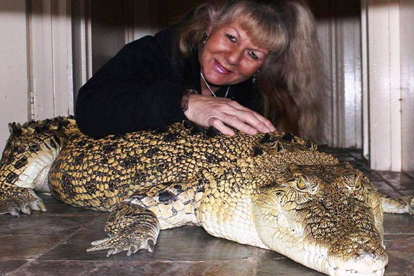 Article image for Croc Lady fears she will lose her 'family'