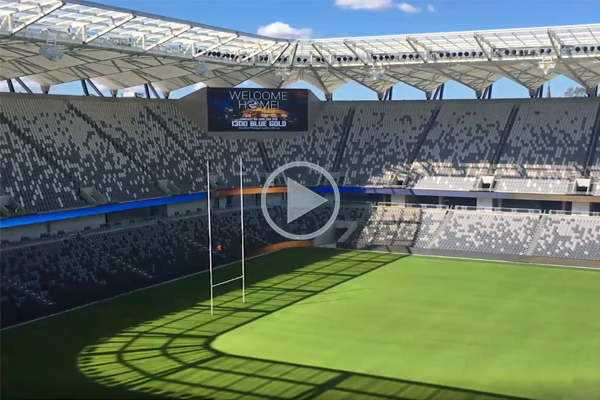 Behind the scenes at the new Bankwest Stadium
