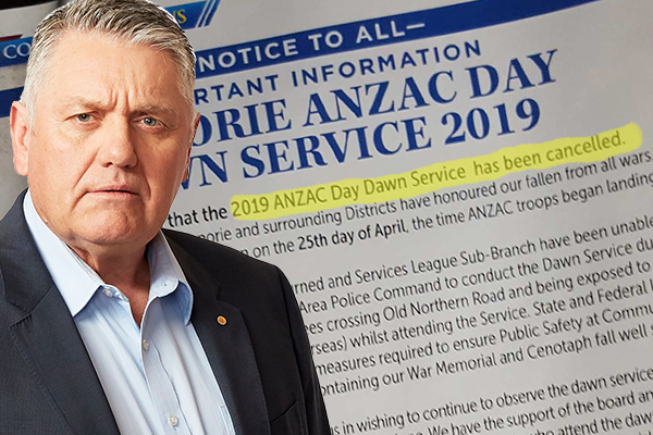 RSL blames police and 'terrorists' for cancelling ANZAC Day dawn service