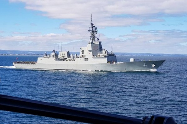 HMAS Brisbane pays its first visit to its namesake