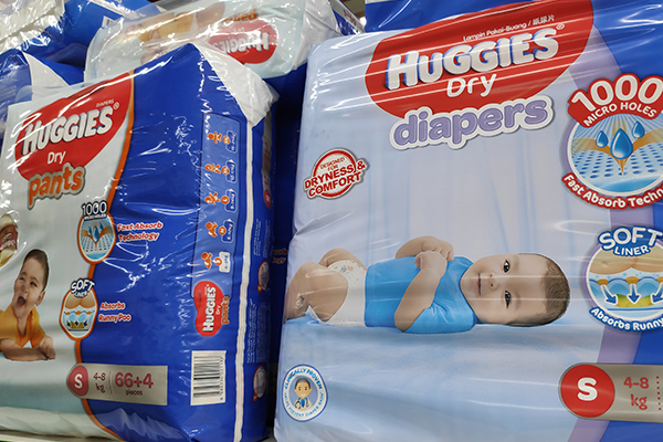 Huggies nappies moves to Asia