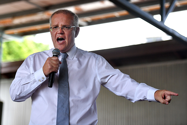 Labor maintains lead in first election poll but Scott Morrison more popular