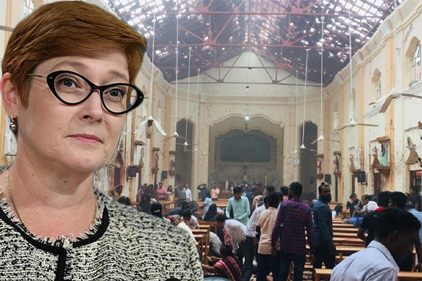 Article image for Foreign Minister confirms Sri Lanka attacks are terrorism but won't lay blame just yet