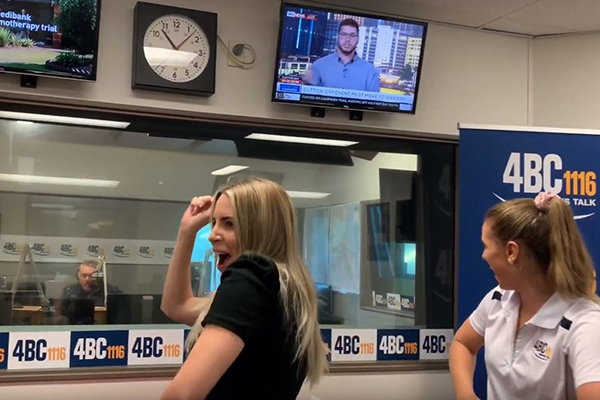 WATCH | Sales team at 4BC boogies to Ray's favourite song