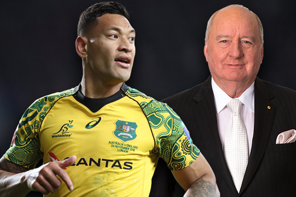 Article image for Israel Folau breaks his silence with Alan Jones
