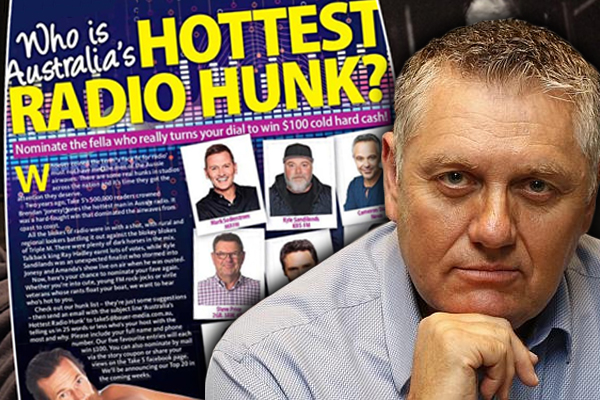 Ray Hadley starts his own campaign to be named 'Hottest Radio Hunk'