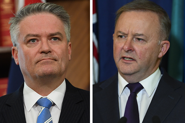 mathias-cormann-anthony-albanese-aap