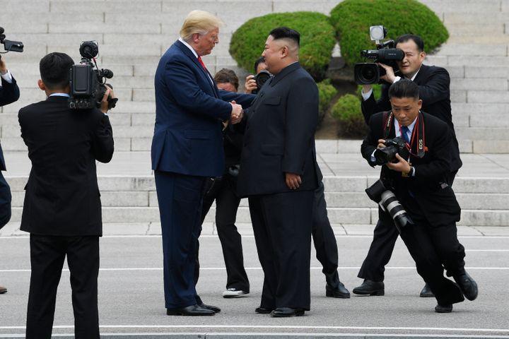 Trump visits North Korea