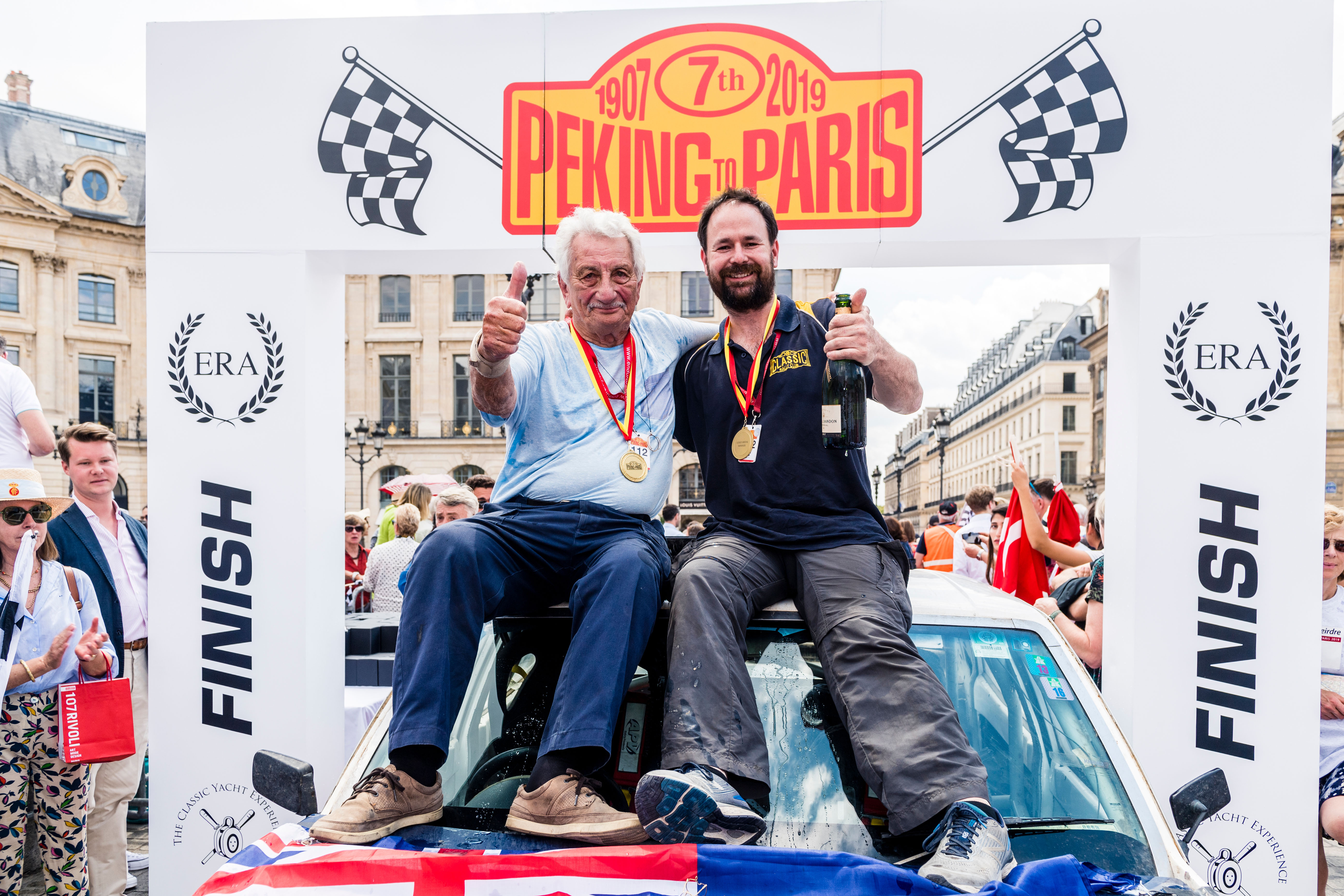 Triple Crown for 87-year old driver in 13,695km.Peking to Paris endurance rally