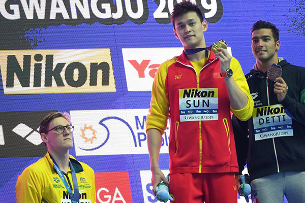 Article image for Podium protest: Aussie Swimmer Mack Horton refuses to stand next to accused cheat, Sun Yang