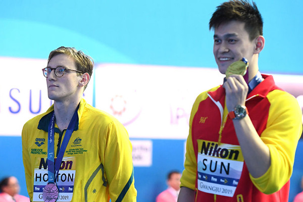 'They're going after him': FINA takes action against Mack Horton over podium protest