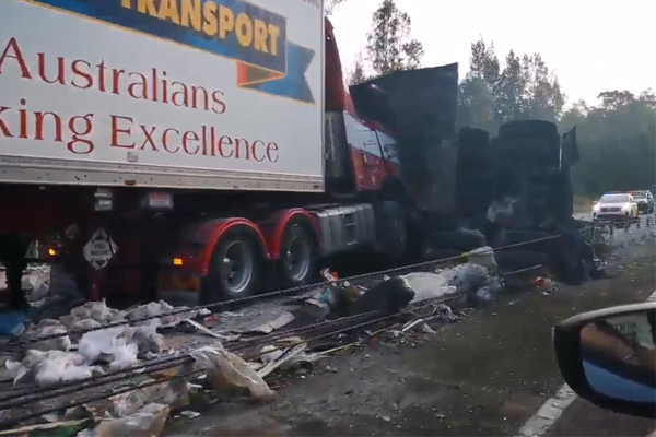 Article image for Truck driver killed in Pacific Highway carnage