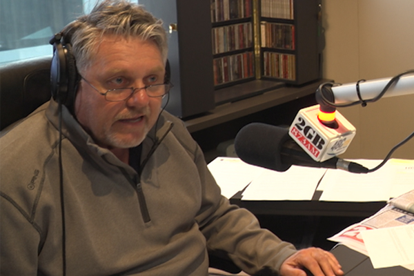 Article image for WATCH   Ray Hadley brought to tears by surprise studio guest