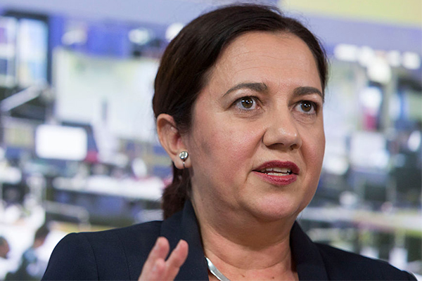 Premier Palaszczuk responds to Brisbane CBD protests