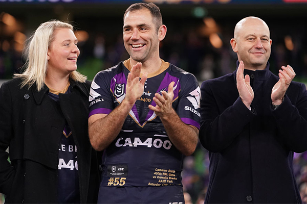 Article image for Alan Jones commends NRL's $15,000 gift to Cameron Smith's wife