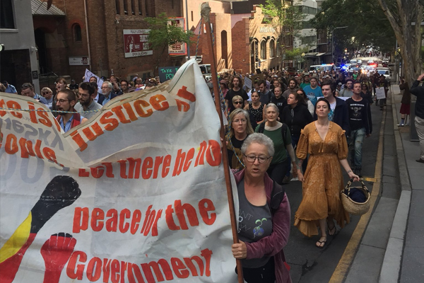 Article image for Brisbane CBD 'held to ransom' by 'extremist' protesters… again