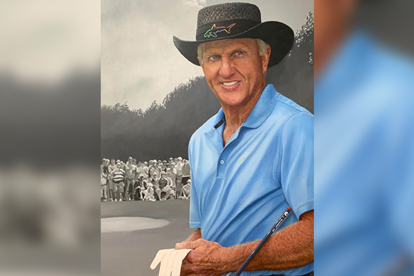The man behind the amazing portrait of Greg Norman