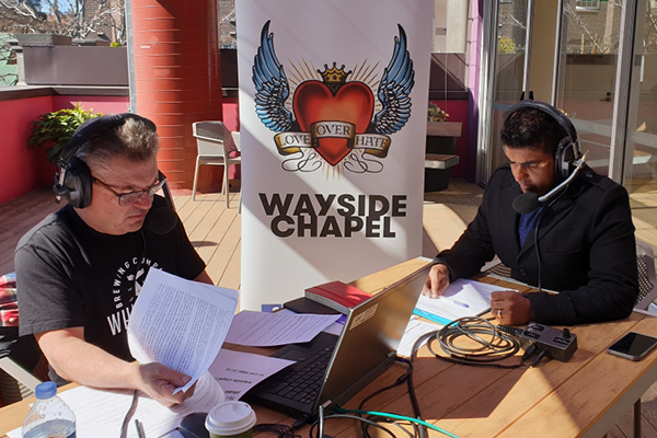 'Loving the homeless back to life': Steve Price broadcasts live from Wayside Chapel