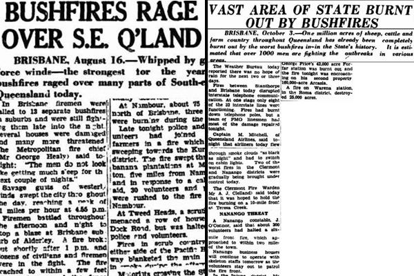 1950s articles show severe bushfires are NOT a new phenomenon