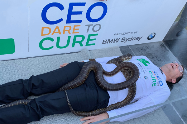 We threw our CEO into a bath of snakes… all for a good cause